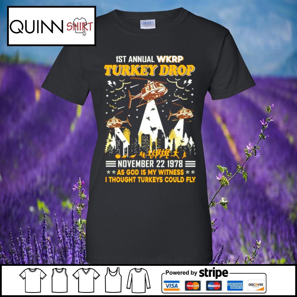 1st annual turkey drop s Ladies tee