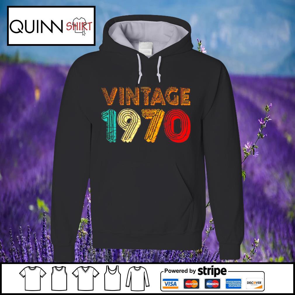 50th Birthday Gift Vintage 1970 s Hoodie