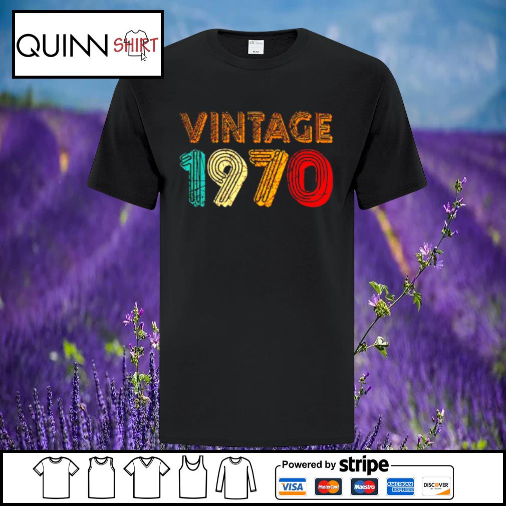 50th Birthday Gift Vintage 1970 shirt